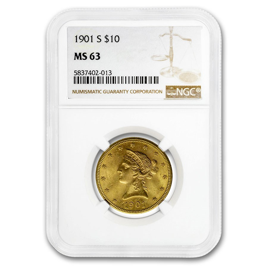 1901-S $10 Liberty Gold Eagle MS-63 NGC