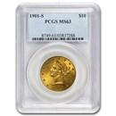 1901-S $10 Liberty Gold Eagle MS-63 PCGS
