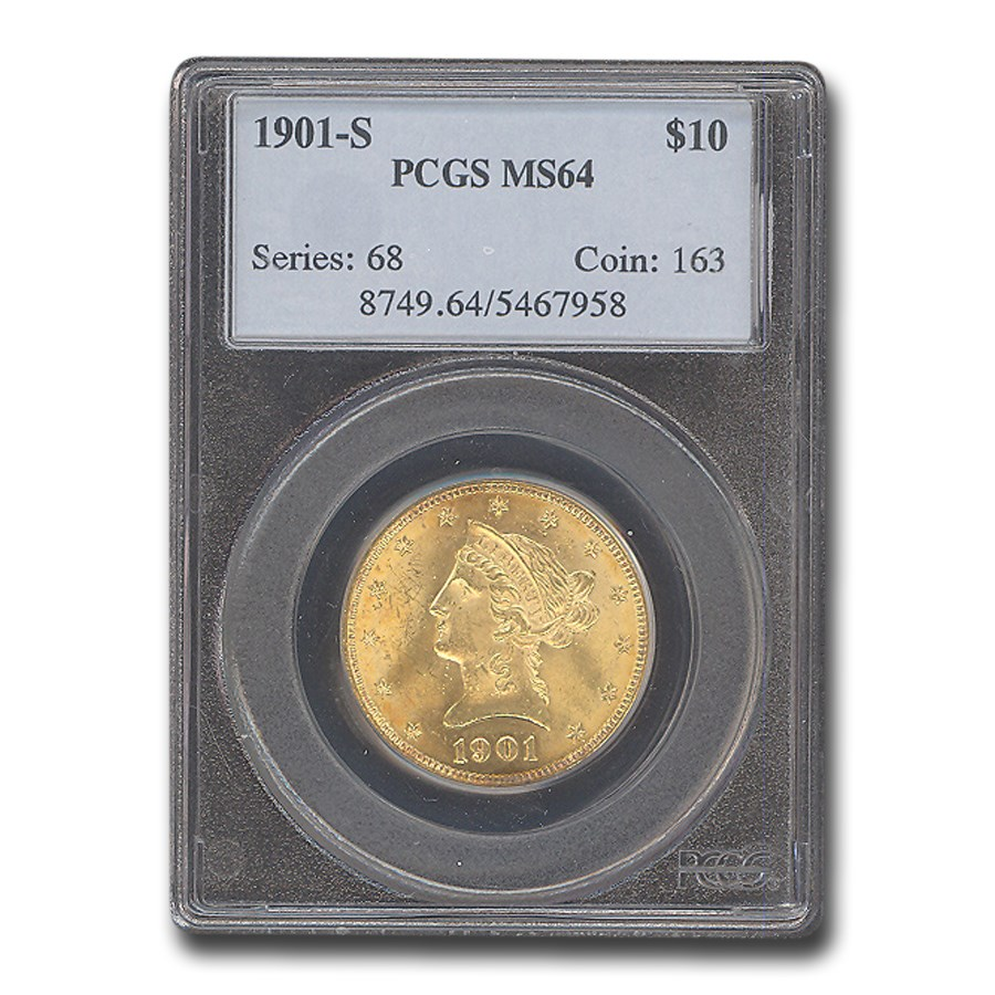 1901-S $10 Liberty Gold Eagle MS-64 PCGS