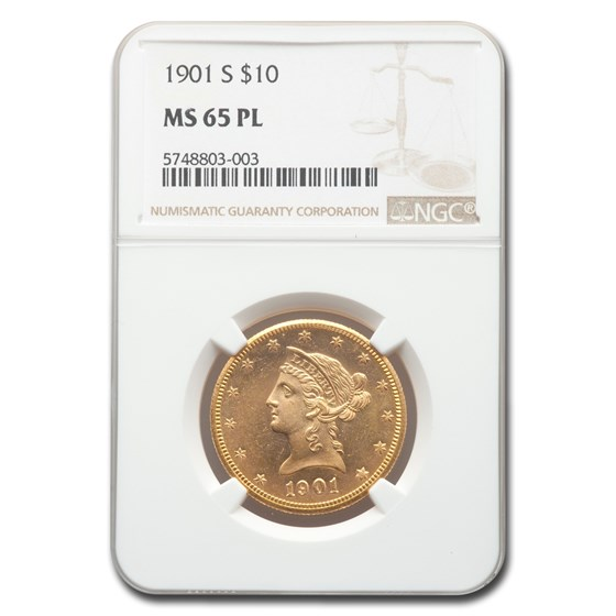 1901-S $10 Liberty Gold Eagle MS-65 NGC (PL)