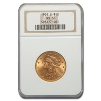 1901-S $10 Liberty Gold Eagle MS-65 NGC