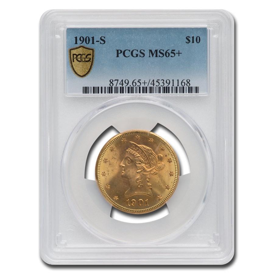 1901-S $10 Liberty Gold Eagle MS-65+ PCGS