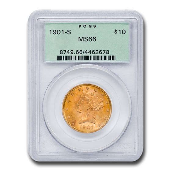 1901-S $10 Liberty Gold Eagle MS-66 PCGS