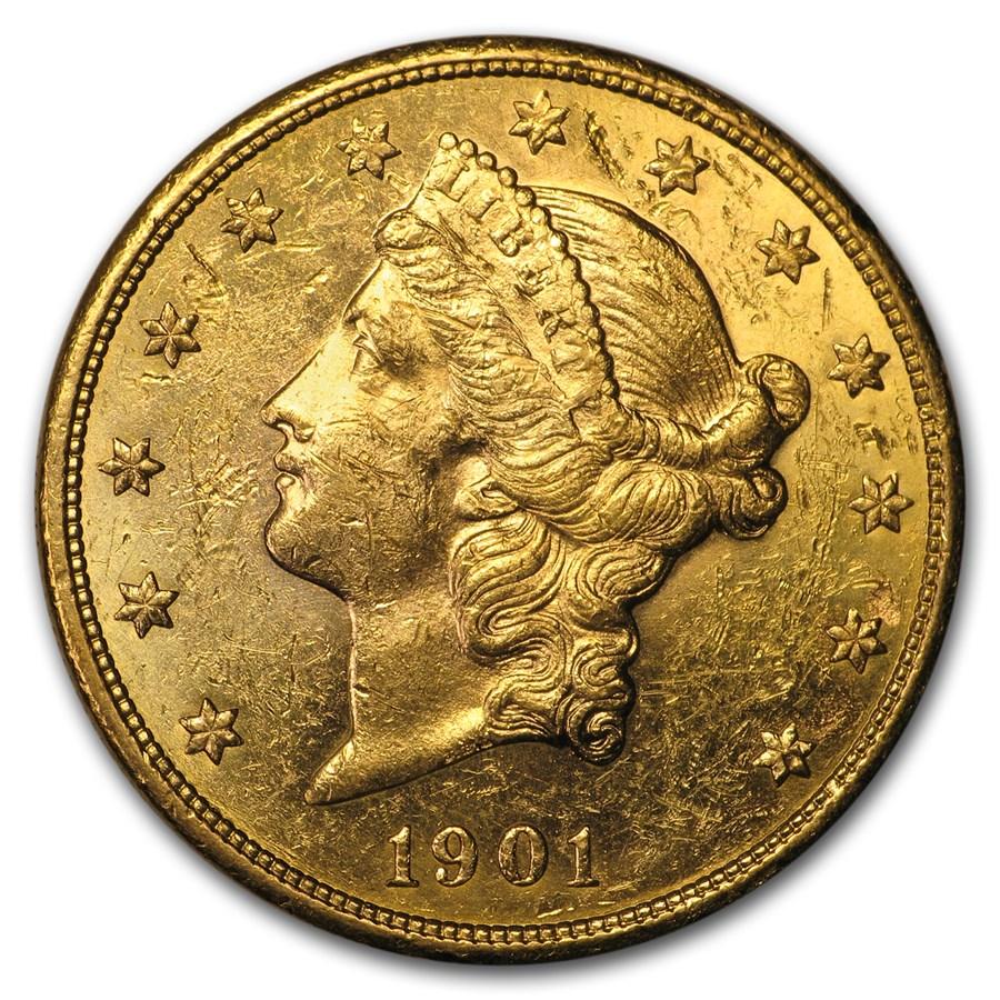 1901-S $20 Liberty Gold Double Eagle AU