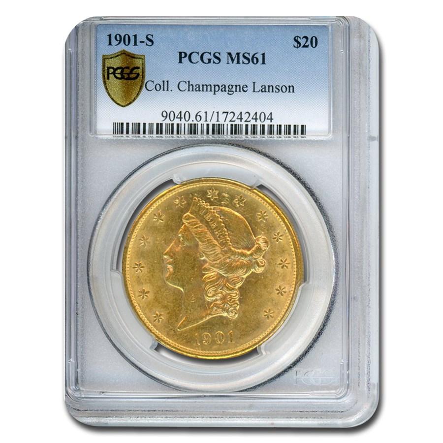 1901-S $20 Liberty Gold Double Eagle MS-61 PCGS