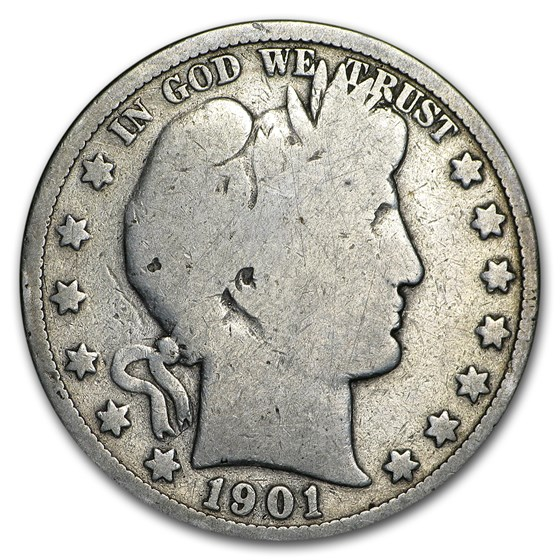 1901-S Barber Half Dollar AG
