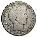 1901-S Barber Half Dollar Good