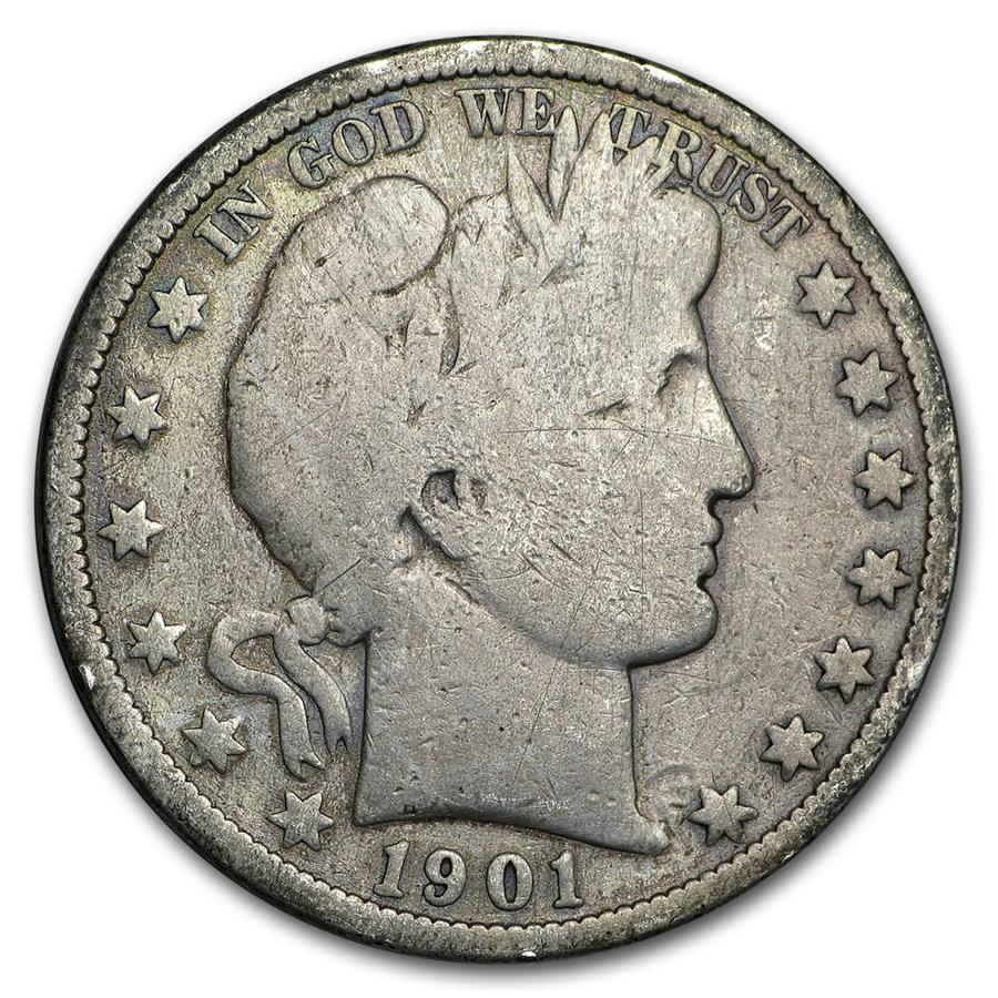1901-S Barber Half Dollar Good