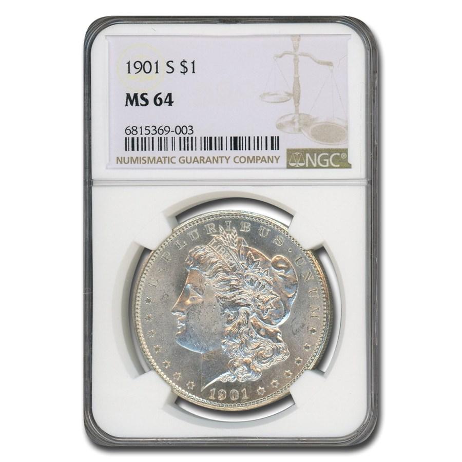 1901-S Morgan Dollar MS-64 NGC