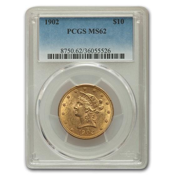1902 $10 Liberty Gold Eagle MS-62 PCGS