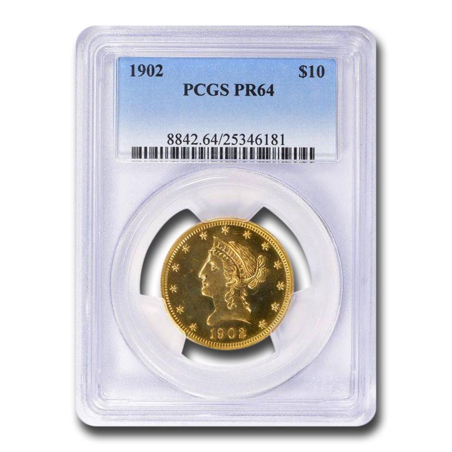 1902 $10 Liberty Gold Eagle PR-64 PCGS