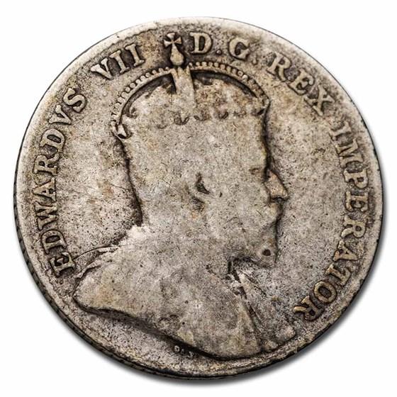 1902-1910 Canada Silver 10 Cents Edward VII Avg Circ