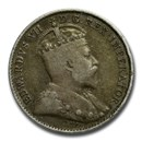 1902-1910 Canada Silver 5 Cents Edward VII Avg Circ
