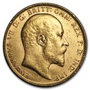 1902-1910 Great Britain Gold Sovereign Edward VII BU
