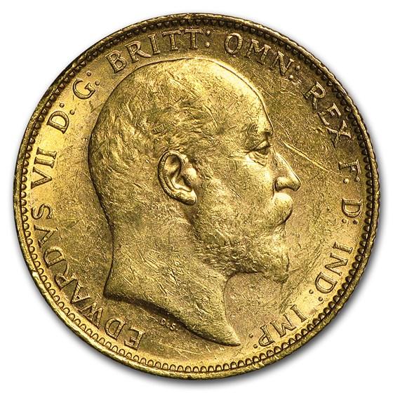 1902-1910-M Australia Gold Sovereign Edward VII AU