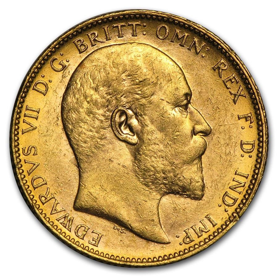 1902-1910-M Australia Gold Sovereign Edward VII Avg Circ
