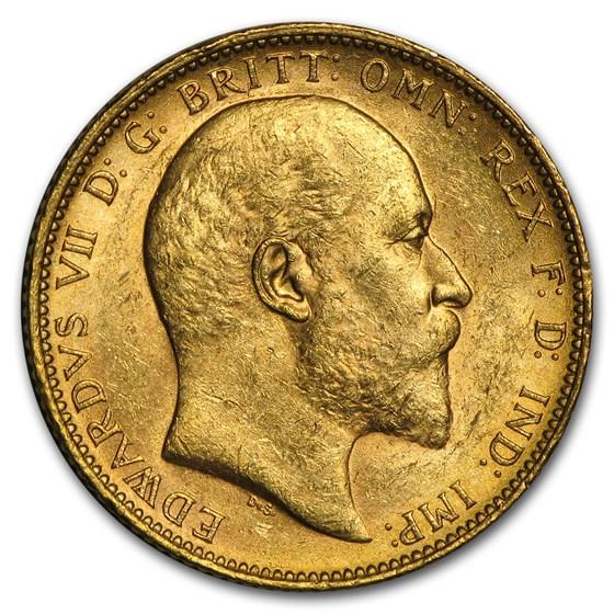 1902-1910-M Australia Gold Sovereign Edward VII BU