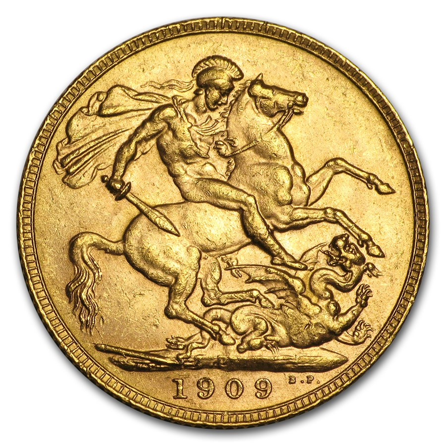 1902-1910-P Australia Gold Sovereign Edward VII BU