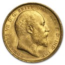 1902-1910-S Australia Gold Sovereign Edward VII Avg Circ