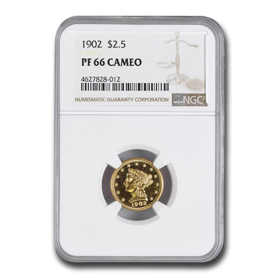 1902 $2.50 Liberty Gold Eagle PF-66 Cameo NGC