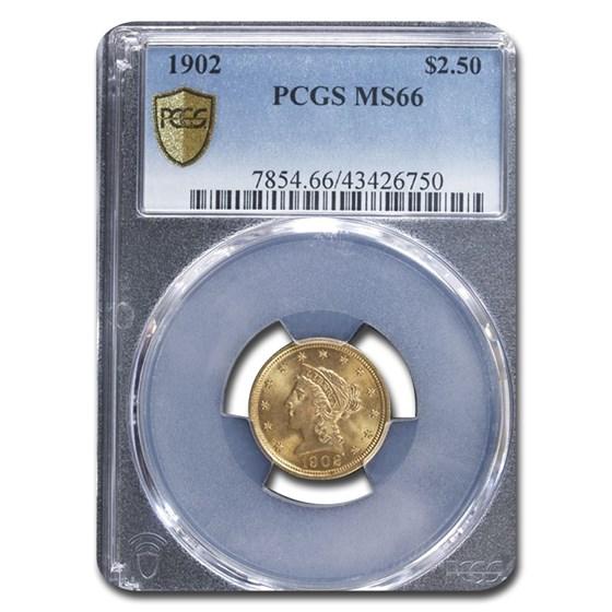 1902 $2.50 Liberty Gold Quarter Eagle MS-66 PCGS