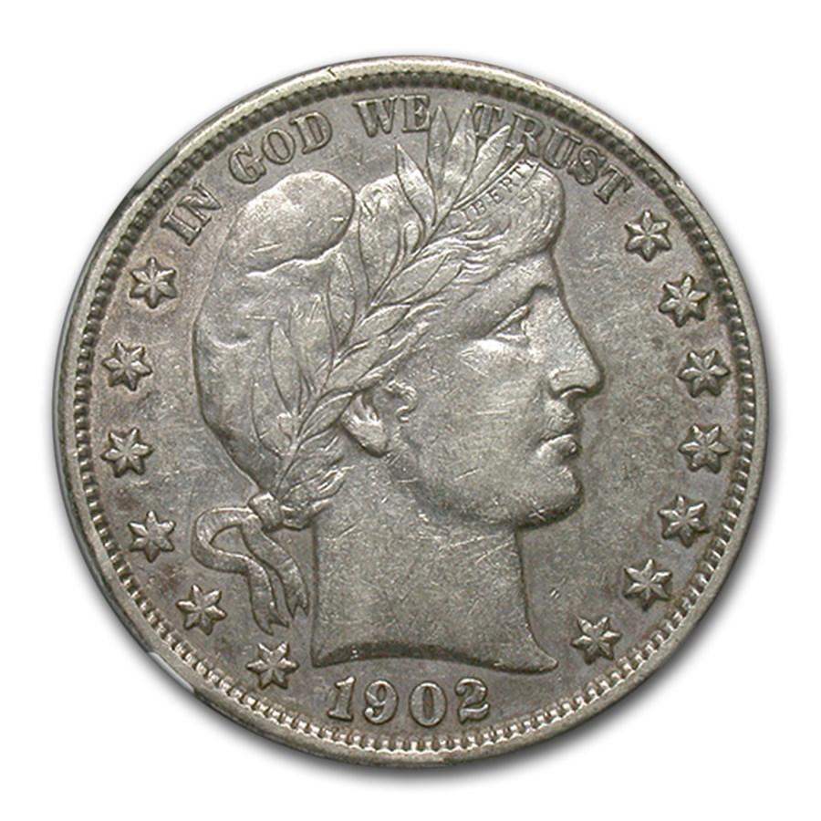 1902 Barber Half Dollar AU-50 NGC