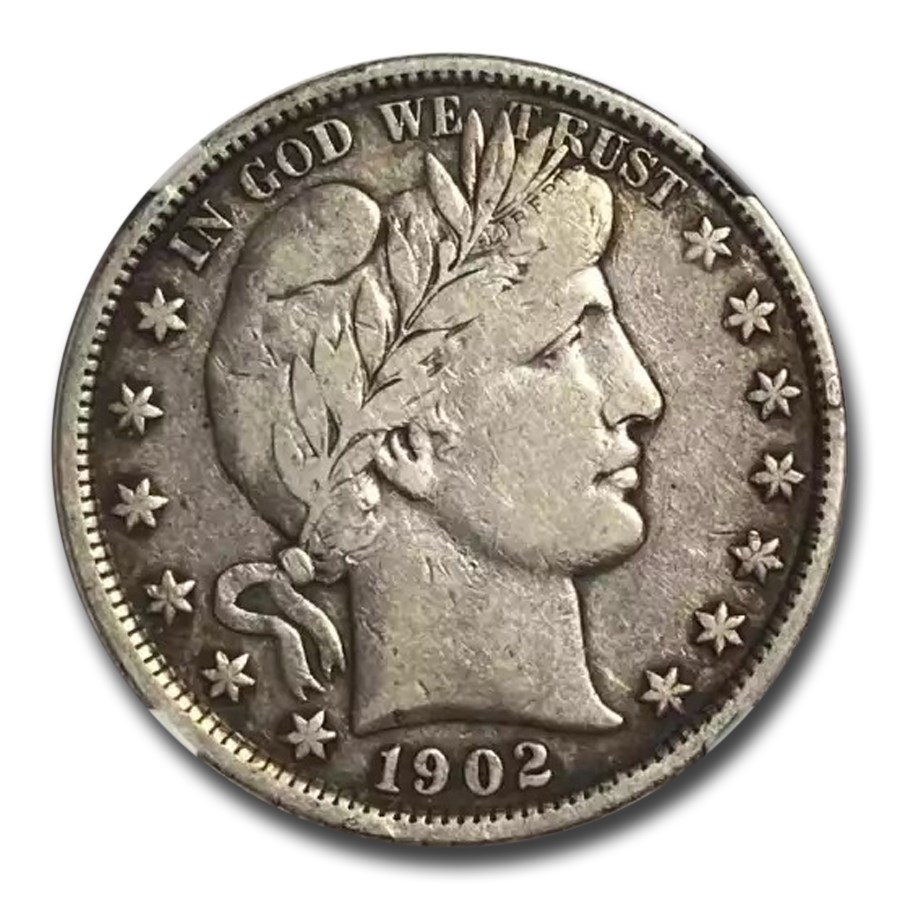1902 Barber Half Dollar VF-20 NGC