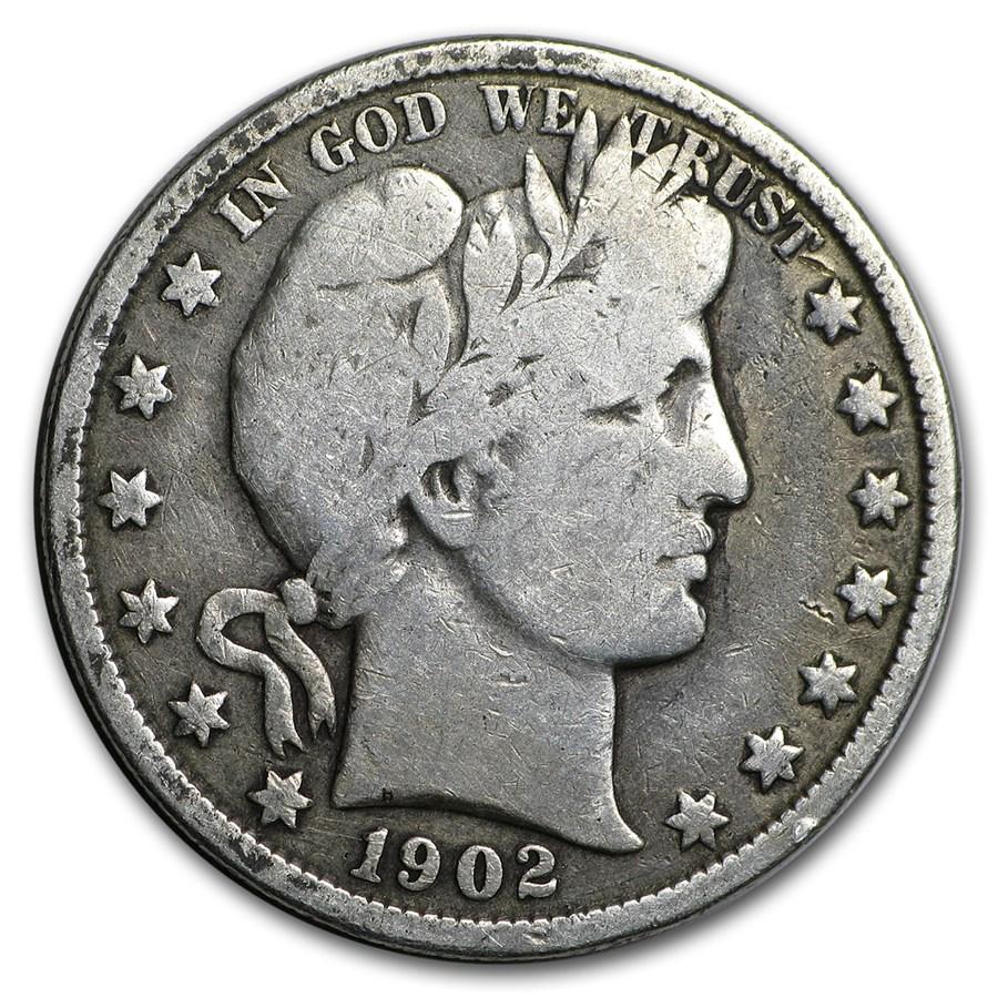 1902 Barber Half Dollar VG