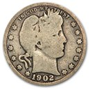 1902 Barber Quarter Good/VG