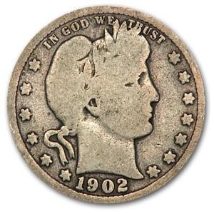 1902 Barber Quarter Good/VG