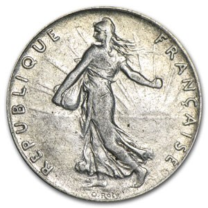 1902 France Silver 50 Centimes XF