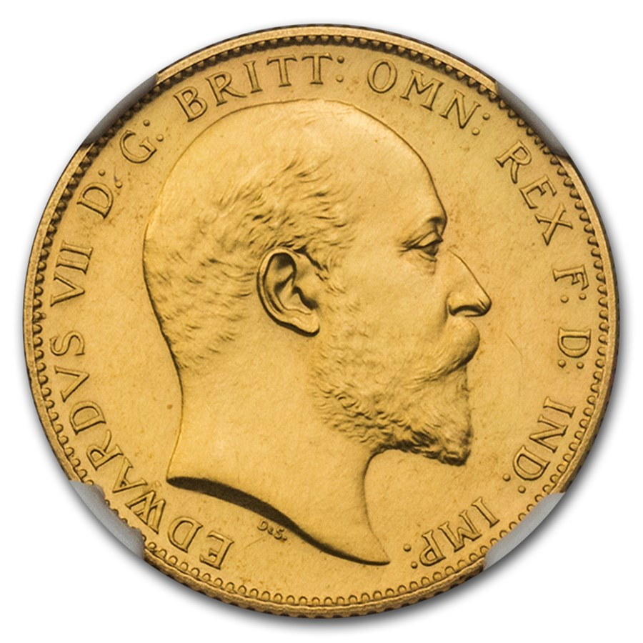 1902 Great Britain 11-Coin King Edward VII Proof Set PF-60/65 NGC