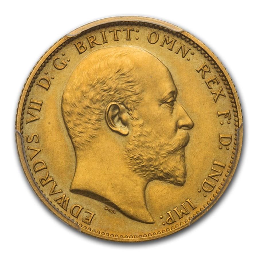 1902 Great Britain Au Sovereign King Edward VII PR-61 Matte PCGS