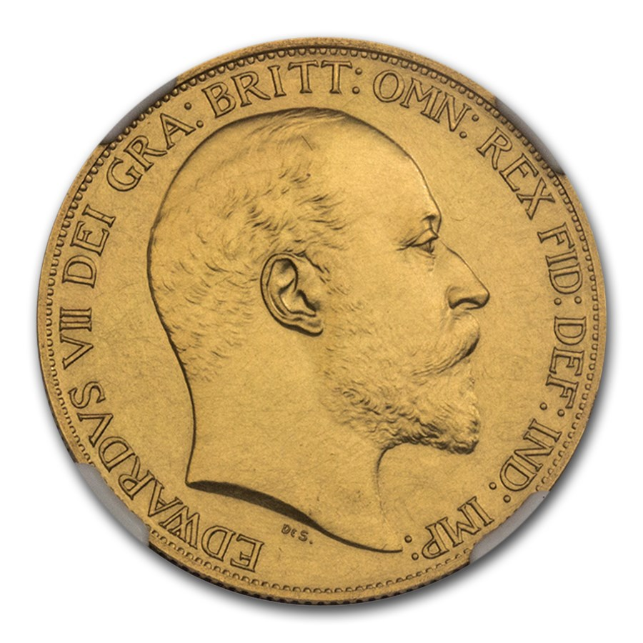 1902 Great Britain Gold 2 Pounds Edward VII PR-61 NGC