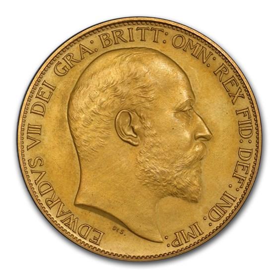 1902 Great Britain Gold 2 Pounds Edward VII PR-64 Matte PCGS