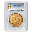 1902 Great Britain Gold 5 Pounds Edward VII MS-61 PCGS