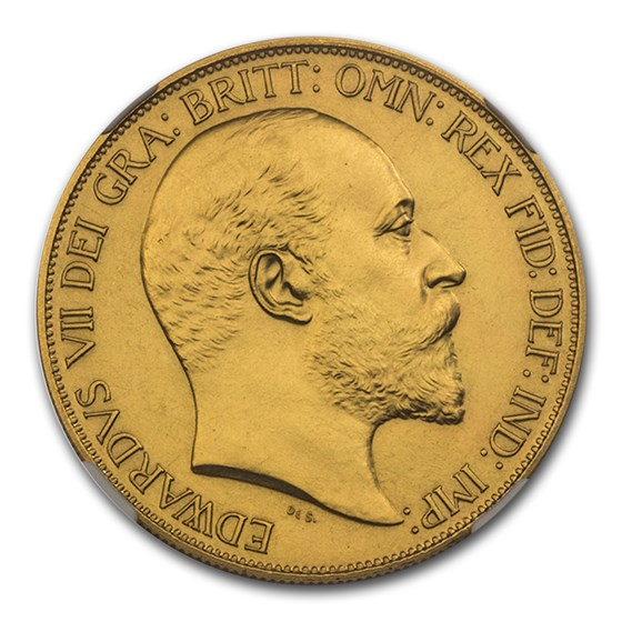 1902 Great Britain Gold 5 Pounds Edward VII PR-61 NGC