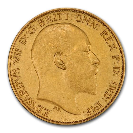 1902 Great Britain Gold Half Sovereign Edward VII PR-63 PCGS