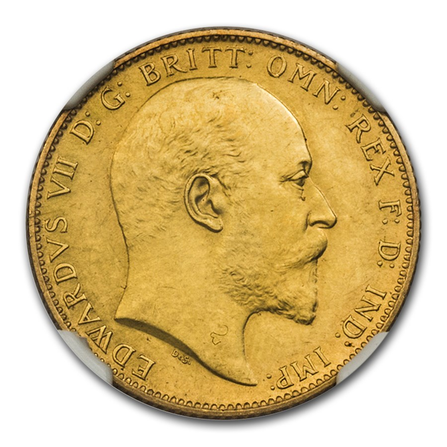 1902 Great Britain Gold Sovereign King Edward VII PR-61 Matte NGC
