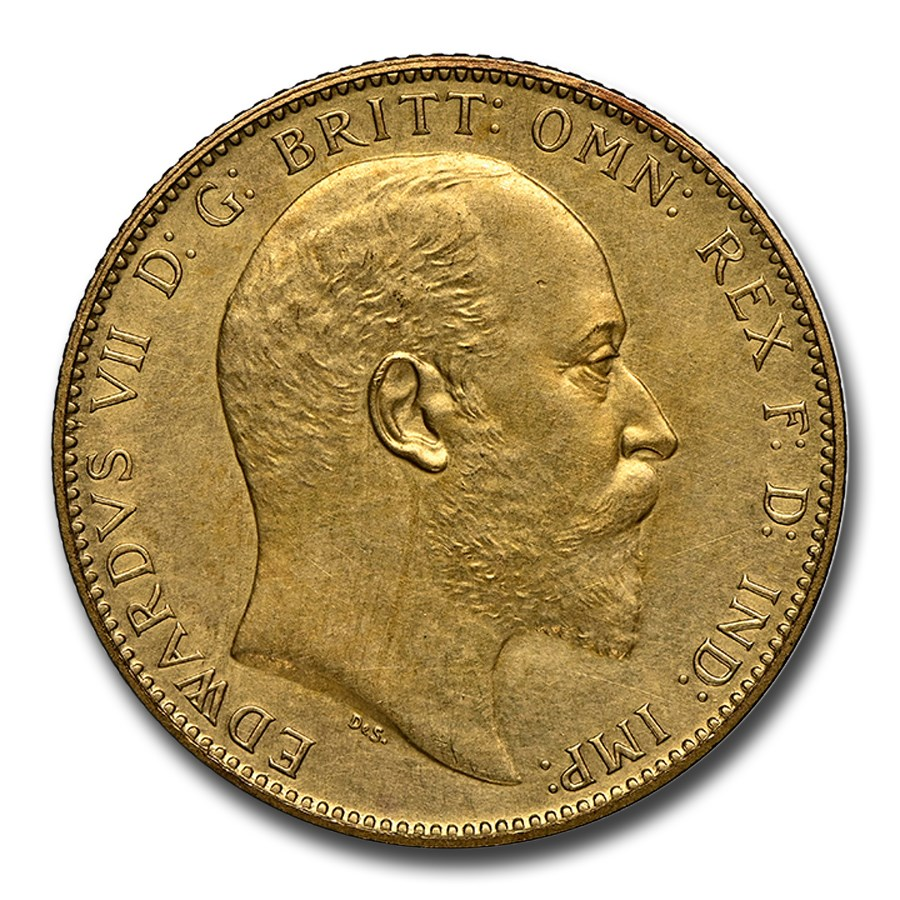 1902 Great Britain Gold Sovereign King Edward VII PR-62 NGC