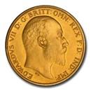1902 Great Britain Half Sovereign Edward VII PR-63 PCGS (Matte)