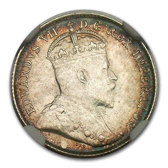 1902-H Canada Silver 5 Cents MS-66 NGC (Large H)