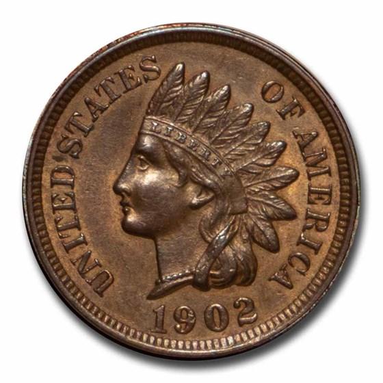 1902 Indian Head Cent BU