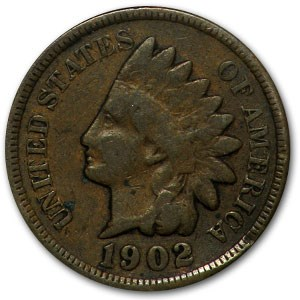 1902 Indian Head Cent Good+