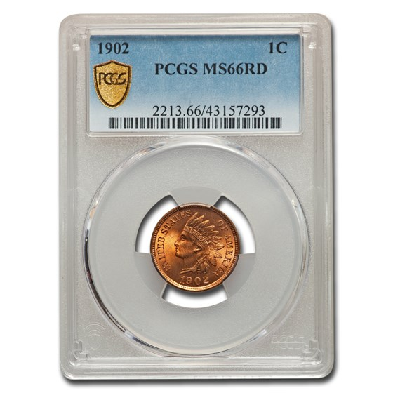 1902 Indian Head Cent MS-66 PCGS (Red)