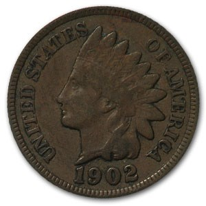 1902 Indian Head Cent VF