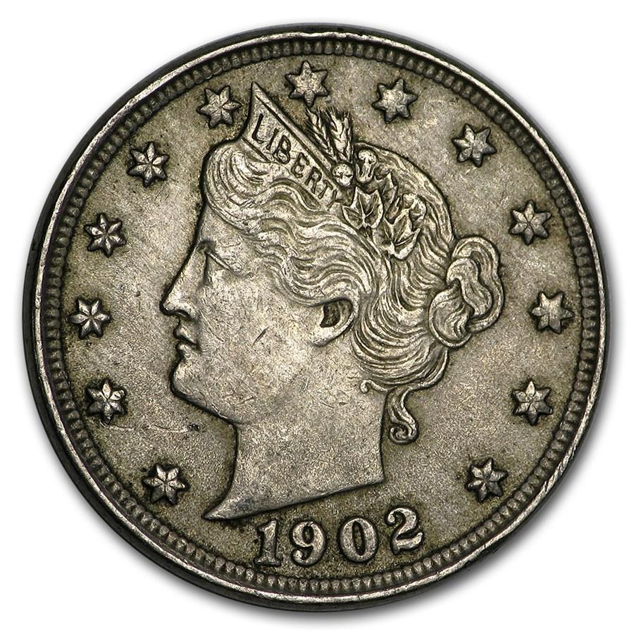 1902 Liberty Head V Nickel AU