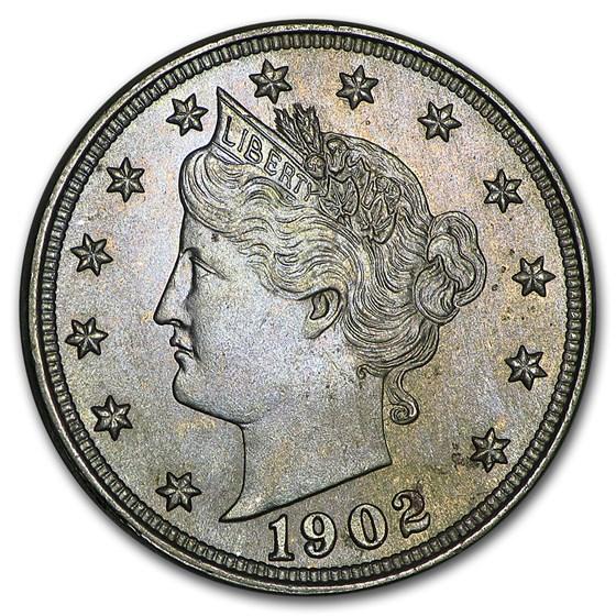 1902 Liberty Head V Nickel BU