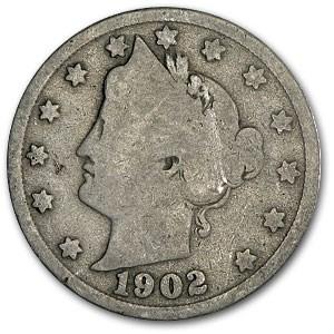 1902 Liberty Head V Nickel Good+