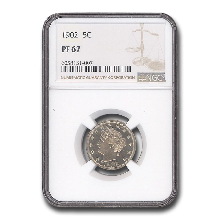 1902 Liberty Head V Nickel PF-67 NGC